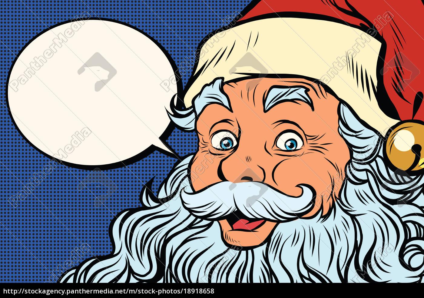 Stock Bild 18918658 - Weihnachtsmann Erzählt Comic Blase innen Comic Weihnachtsmann