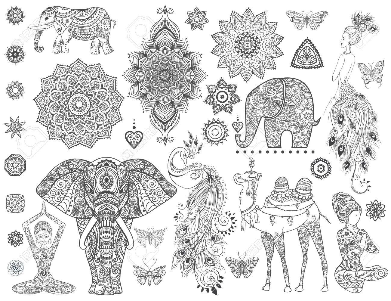 Stock Photo (Mit Bildern) | Mandala Tiere, Mandala Tiere in Tier Mandalas