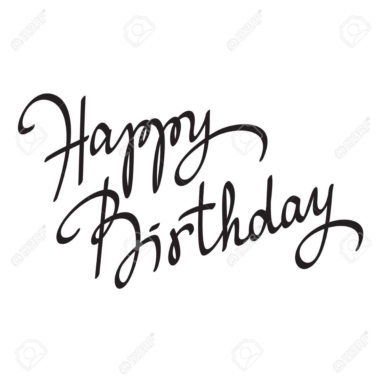 Stock Vector (Mit Bildern) | Happy Birthday Schriftzug bestimmt für Vorlage Happy Birthday