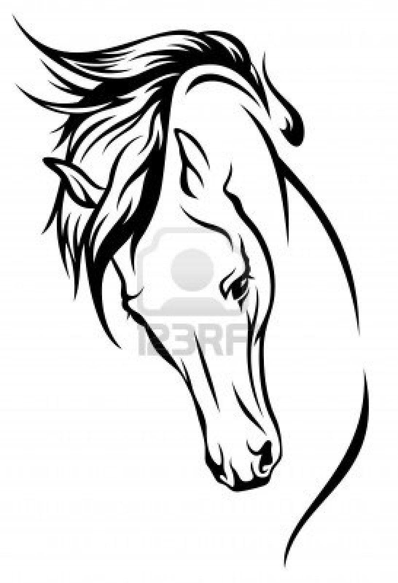 Stock Vector (Mit Bildern)   Pferdekopf, Pferde Tattoos verwandt mit Pferdekopf Malen