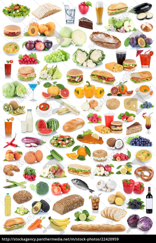Stockfoto 22420959 - Sammlung Collage Essen Und Trinken Gesunde Ernährung  Obst für Essen Und Trinken Bilder