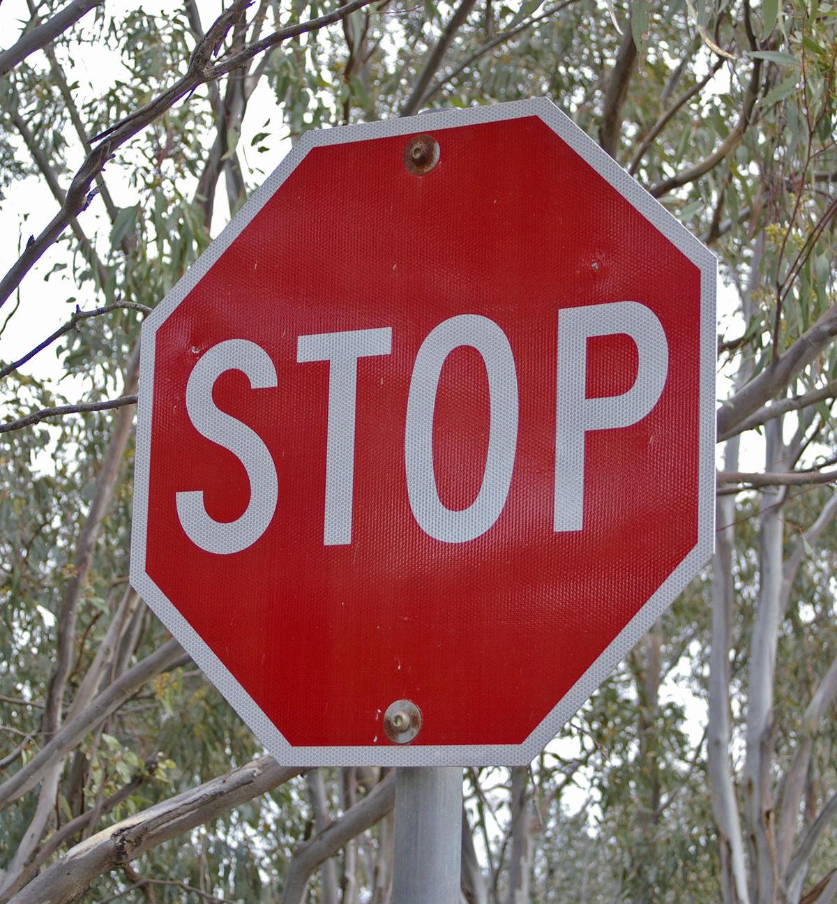 Stoppschild – Wikipedia in Welches Verhalten Ist Richtig Stoppschild