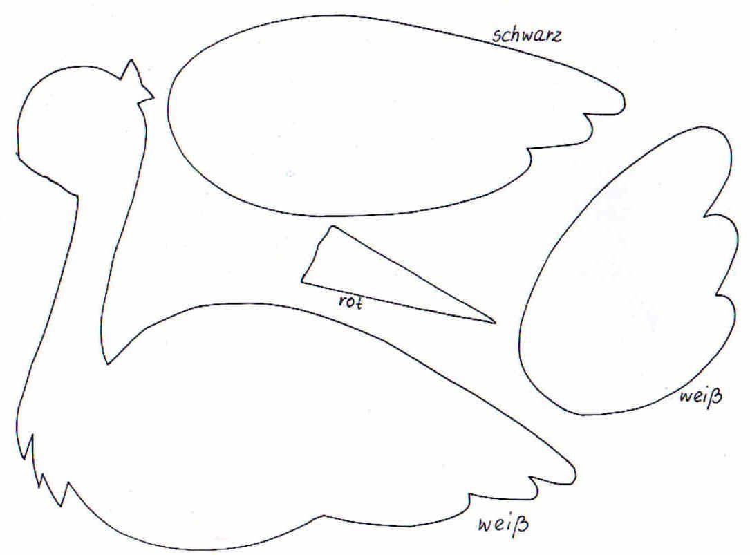 Storchbastelvorlage1 … | Baby Storch Basteln, Storch Zur bei Storch Zum Ausmalen