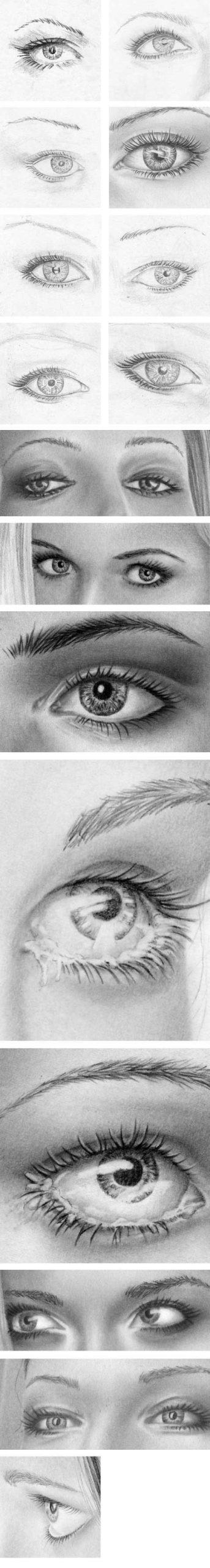 Strahlende Augen, Pupille, Iris Zeichnen Lernen - Zeichenkurs ganzes Augen Malen Lernen