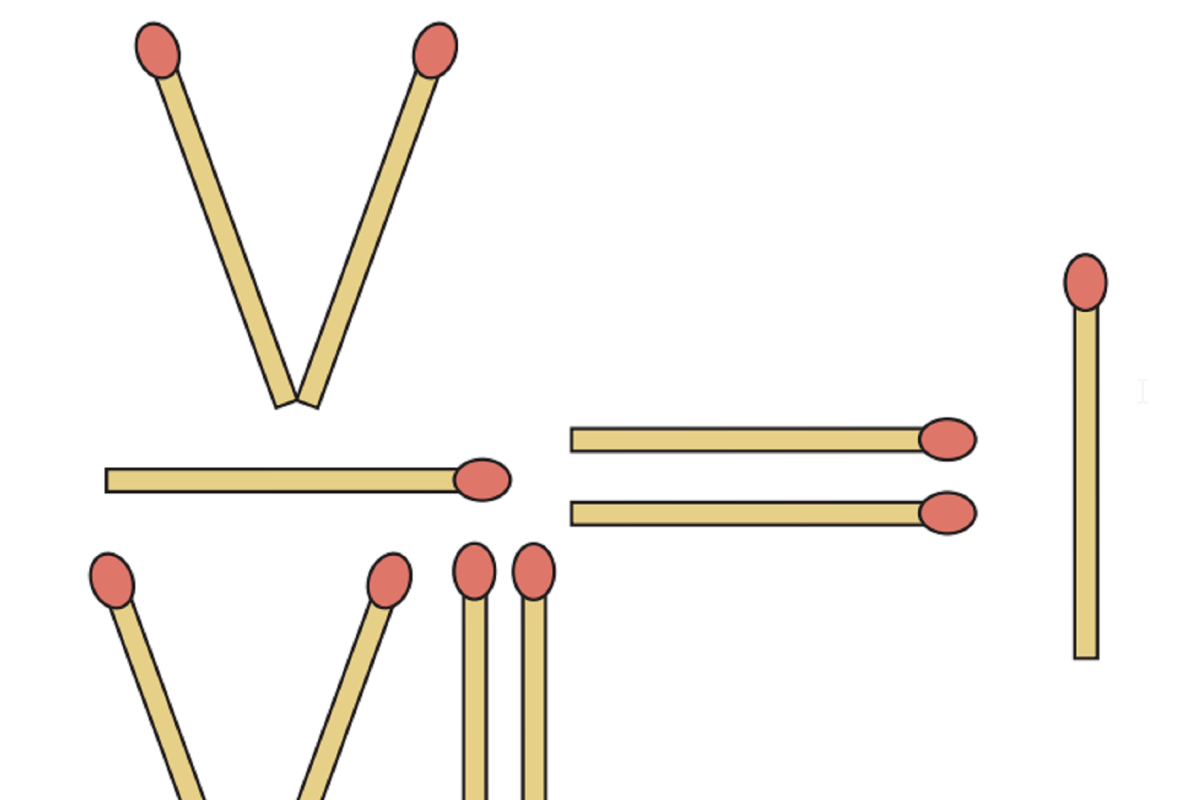Streichholz-Rätsel: Wie Sieht Die Richtige Gleichung Aus verwandt mit Streichholzrätsel