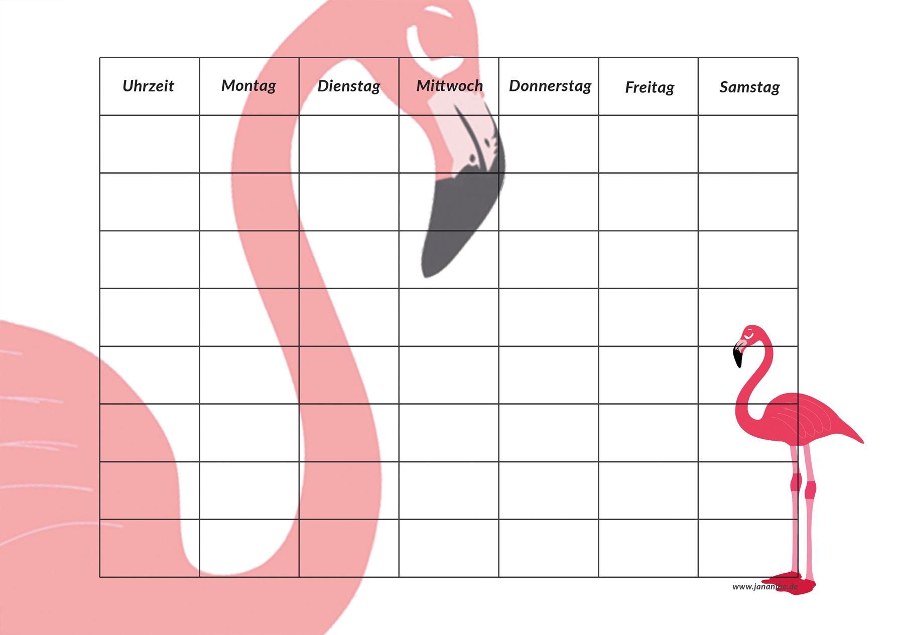 Stundenplan Kostenloser Download Zum Ausdrucken   Jananibe bei Bilder Zum Ausdrucken