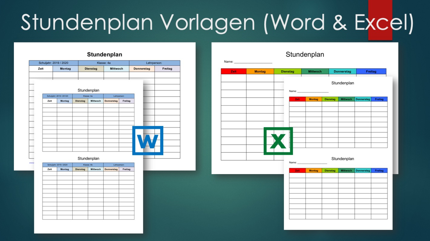 Stundenplan Vorlage (Word Und Excel-Format) | Kostenlos ganzes Stundenplan Online Erstellen Kostenlos