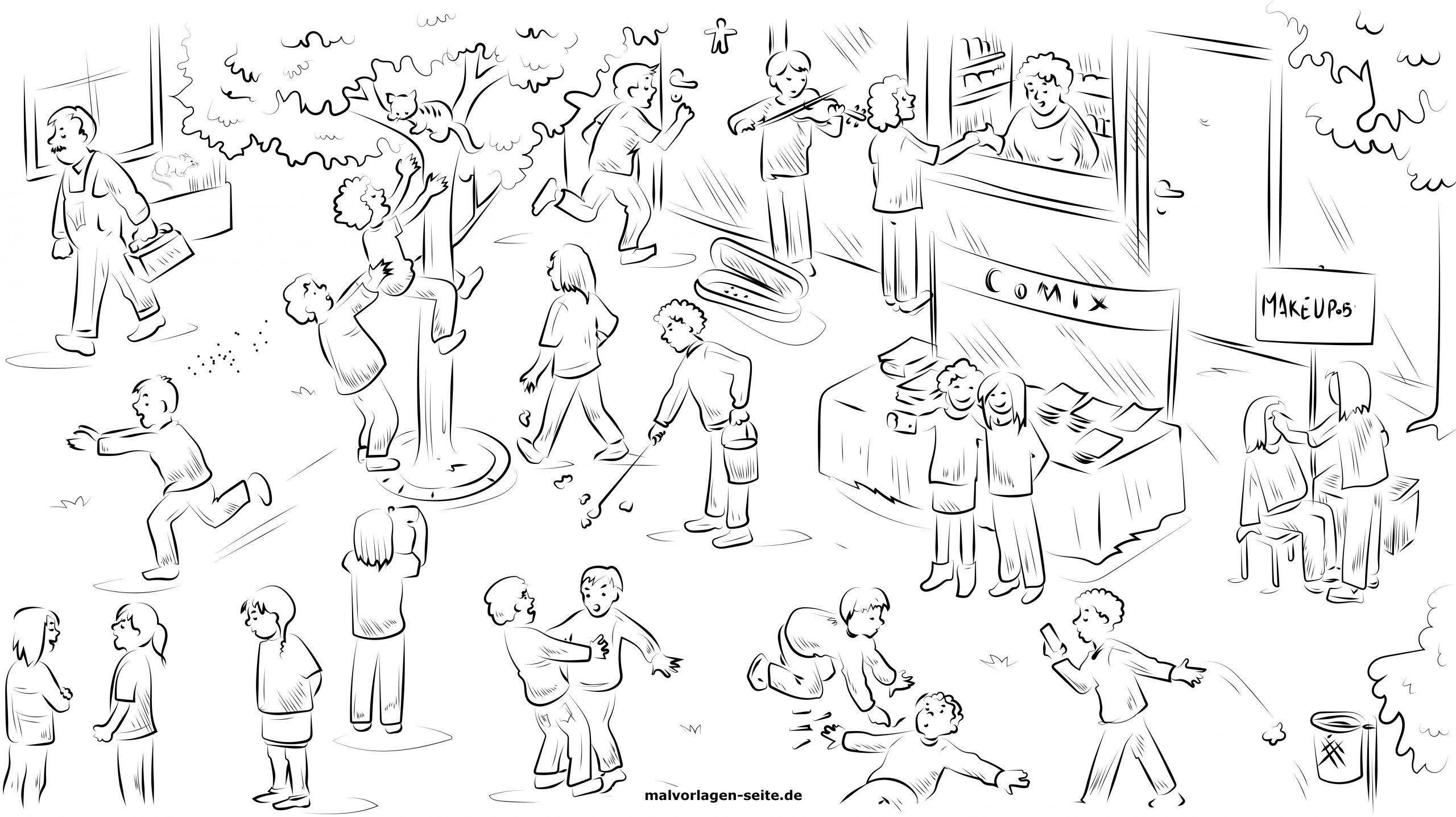 Suchbild Kostenlos - Such Die Maus - Für Kinder Zum Ausmalen über Suchbilder Ausdrucken