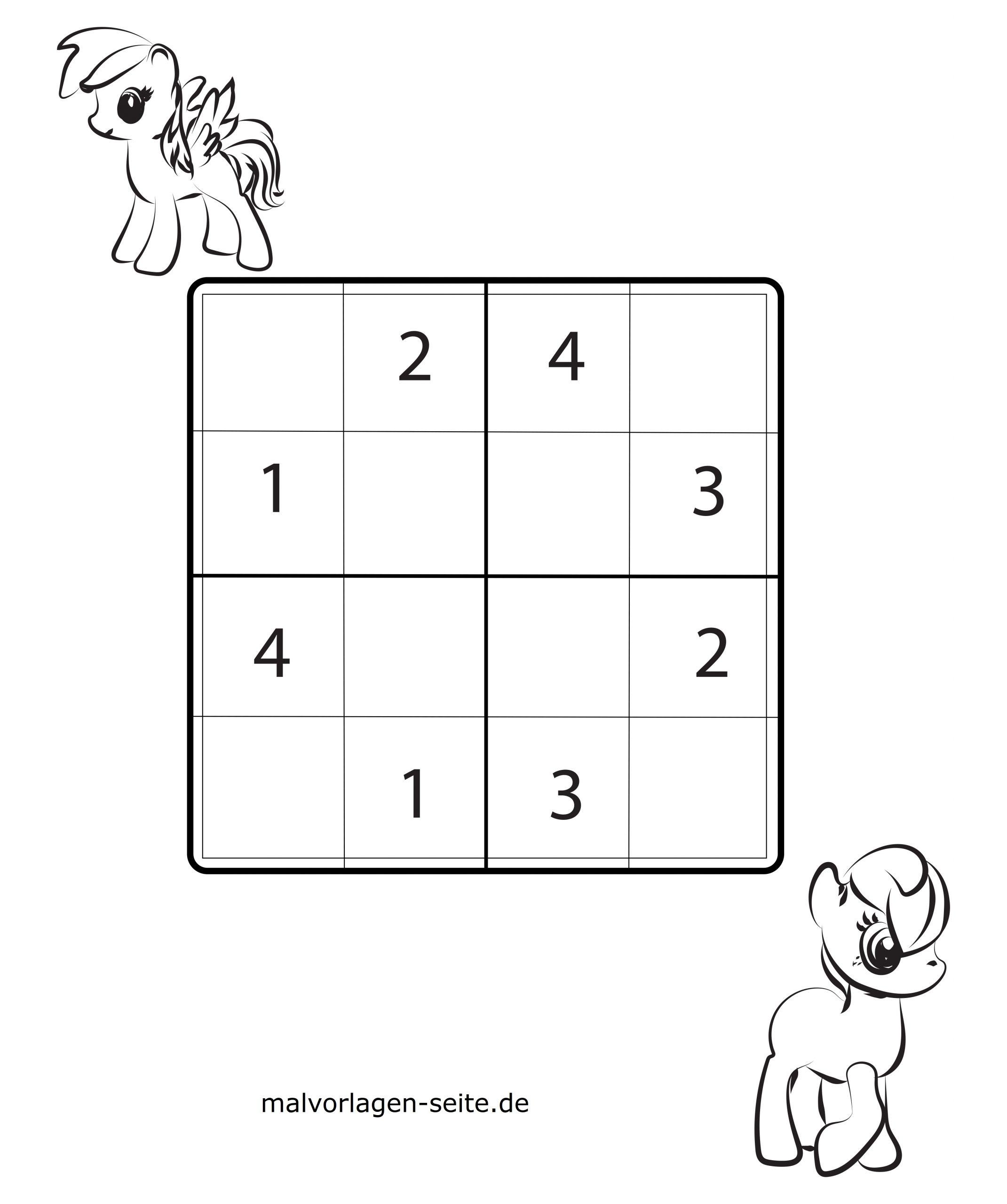 Sudoko Vorlagen Für Kinder 4X4 Kostenlos Herunderladen Und bei Sudoku Kostenlos Ausdrucken