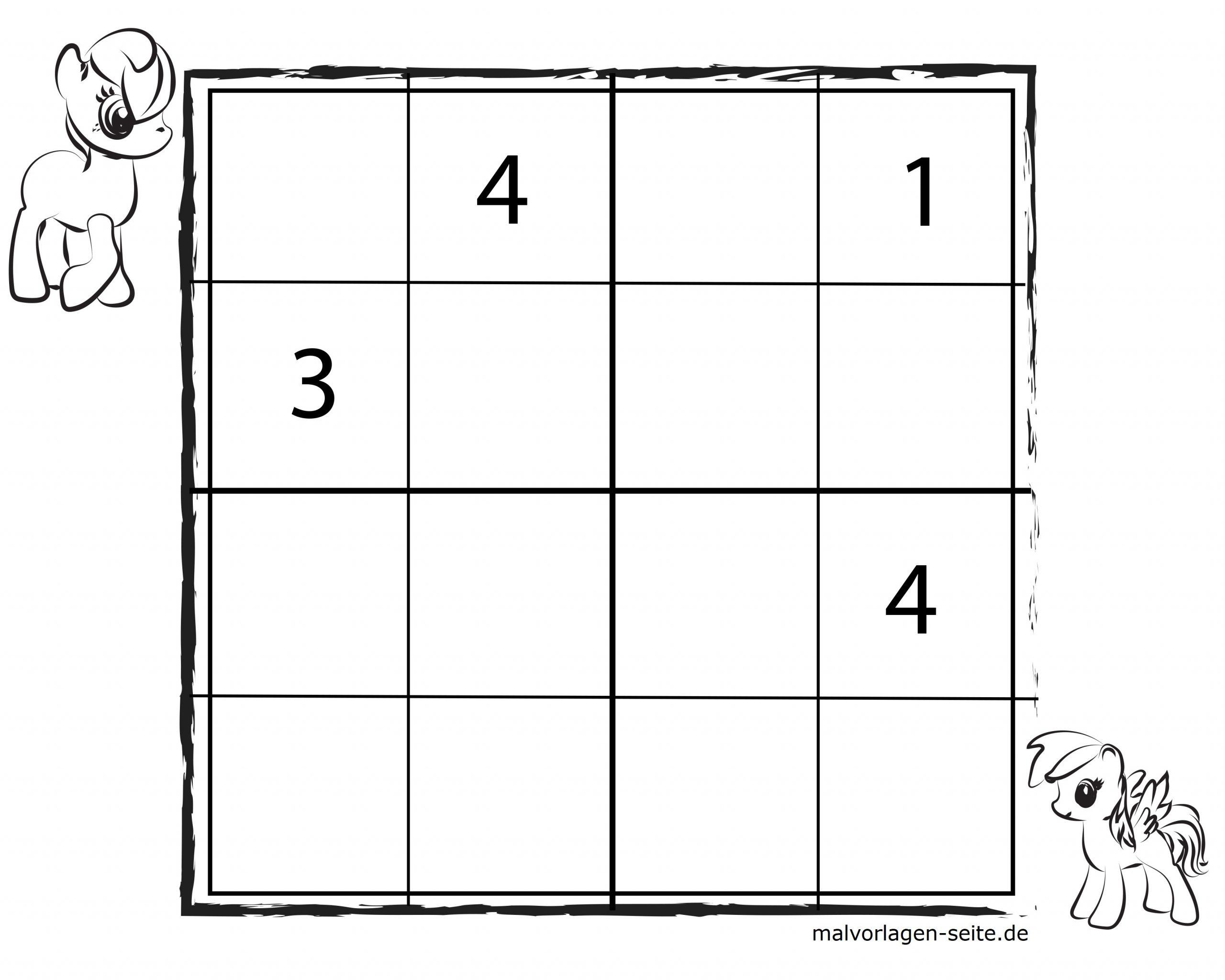 Sudoko Vorlagen Für Kinder 4X4 Kostenlos Herunderladen Und mit Sudoku Kostenlos Ausdrucken