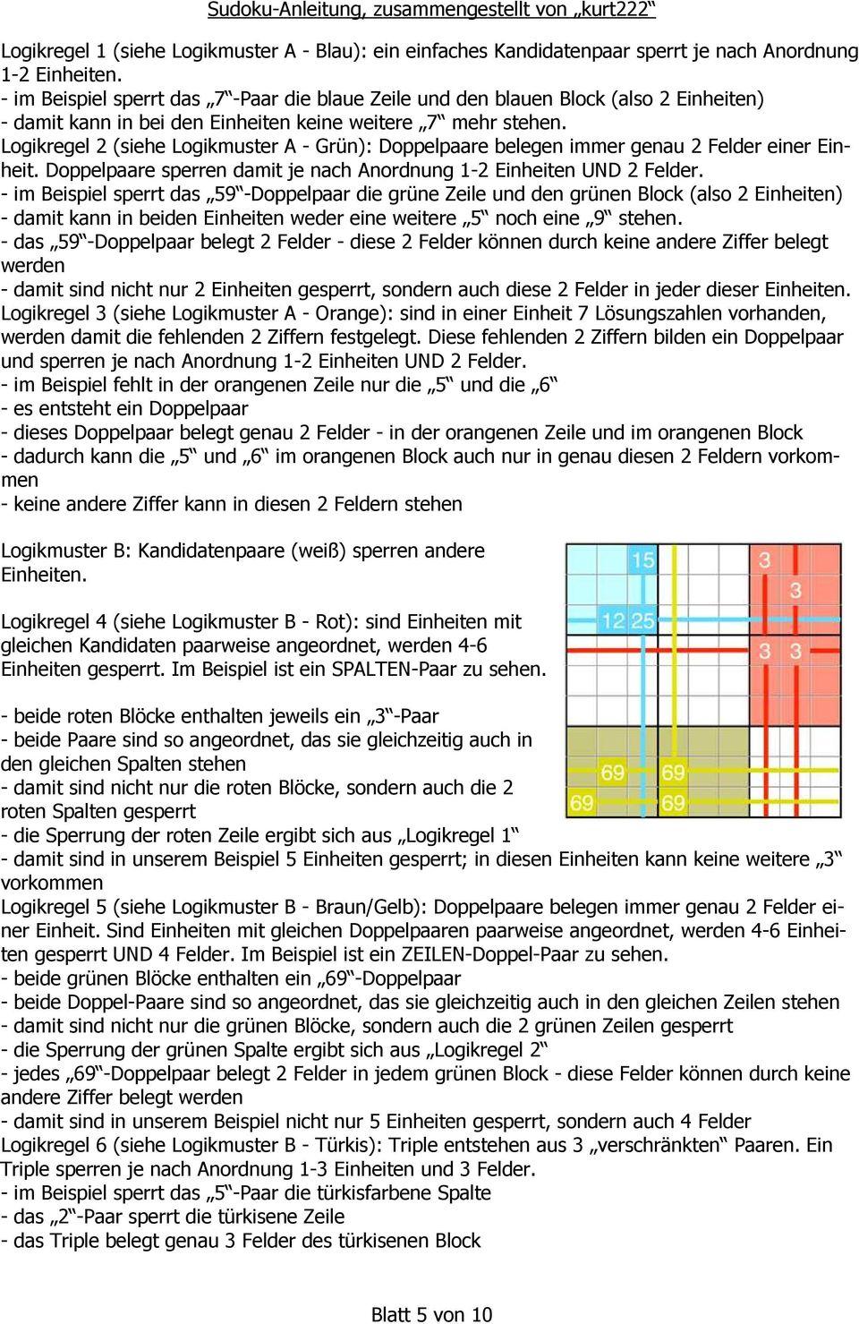 Sudoku - Anleitung. Und Seine Lösung - Pdf Kostenfreier bei Sudoku Anleitung