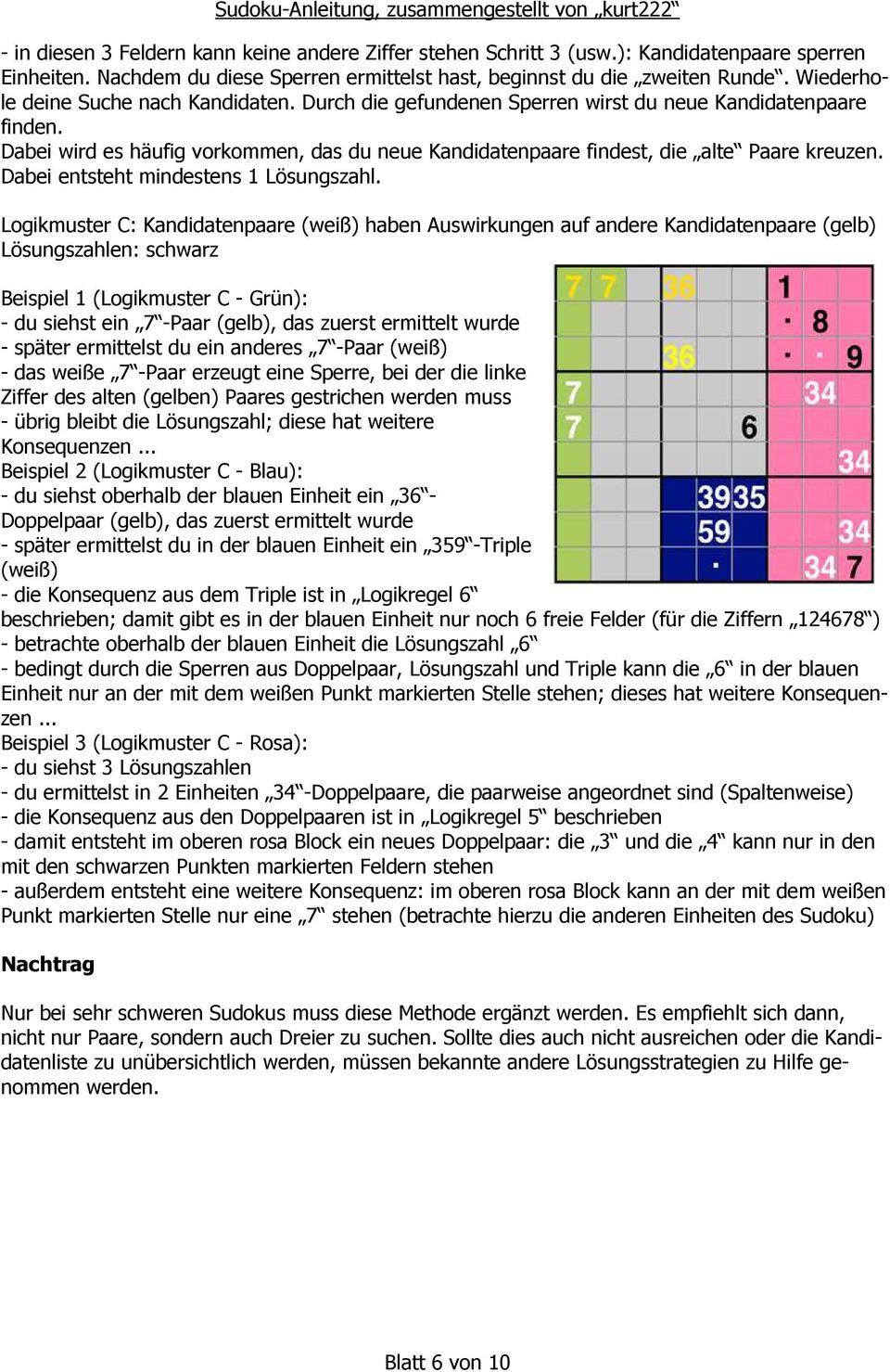 Sudoku - Anleitung. Und Seine Lösung - Pdf Kostenfreier ganzes Sudoku Anleitung