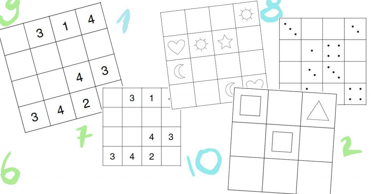 Sudoku Für Kinder: Was Muss Wohin? – Mit Gratis Vorlagen innen Sudoku Für Kindergartenkinder