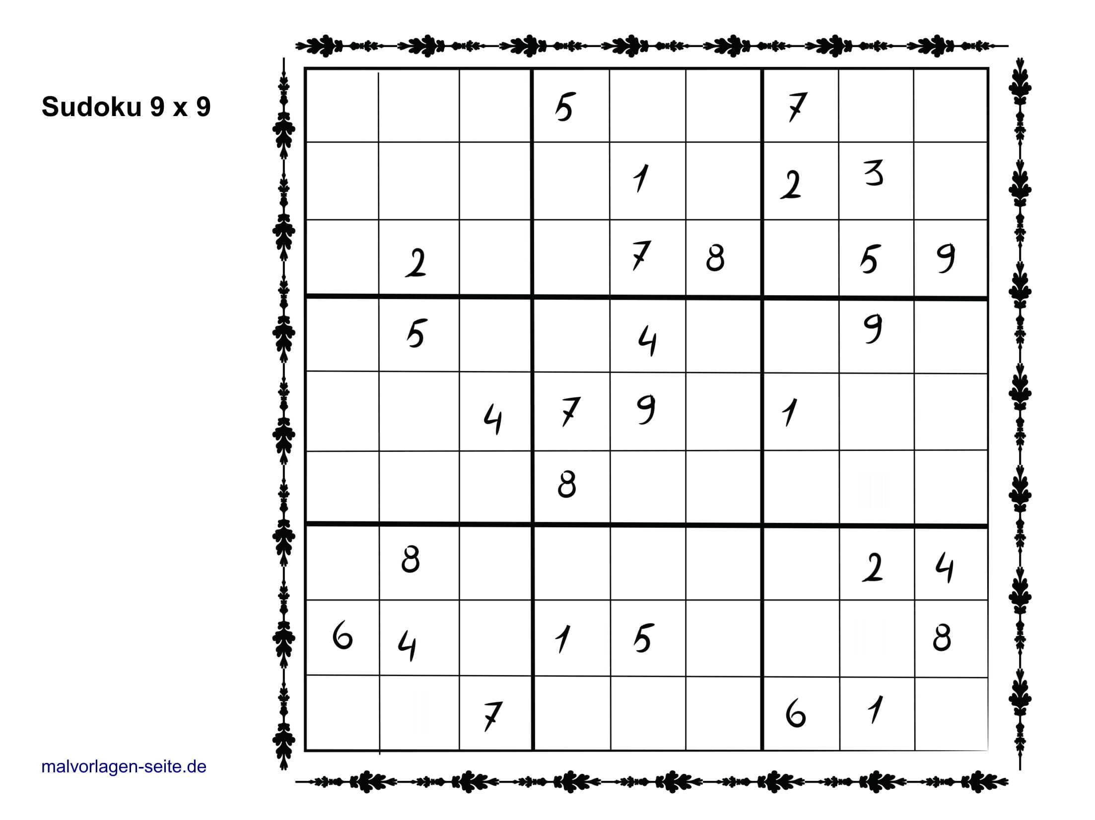 Sudoku Vorlagen 9X9 Einfach - Sudoku Vorlagen Kostenlos innen Sudoko Rätsel