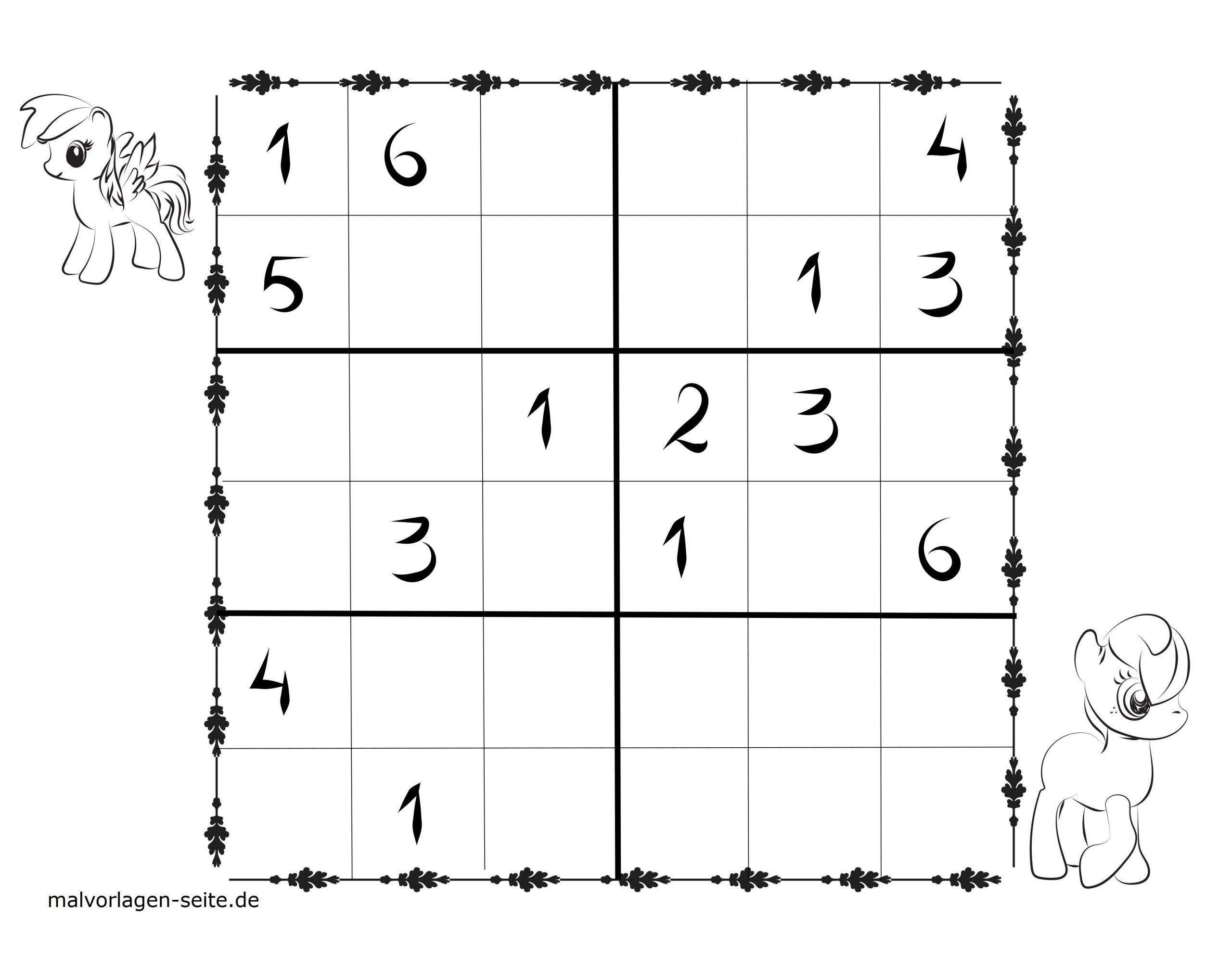 Sudoku Vorlagen Für Kinder 6X6 Kostenlos Herunterladen Und bestimmt für Sudoku Kostenlos Drucken Schwer