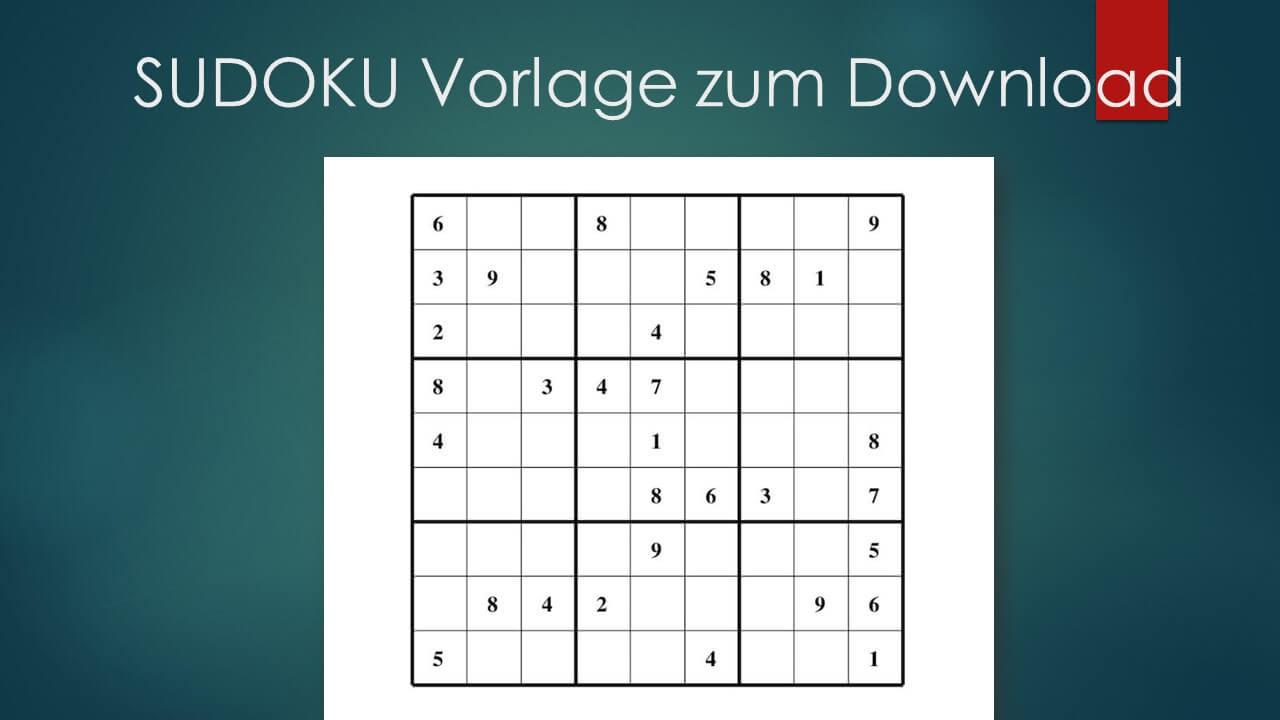 Sudoku Zum Ausdrucken (Leicht, Mittel, Schwer) | Muster bestimmt für Kostenlose Kreuzworträtsel Zum Ausdrucken