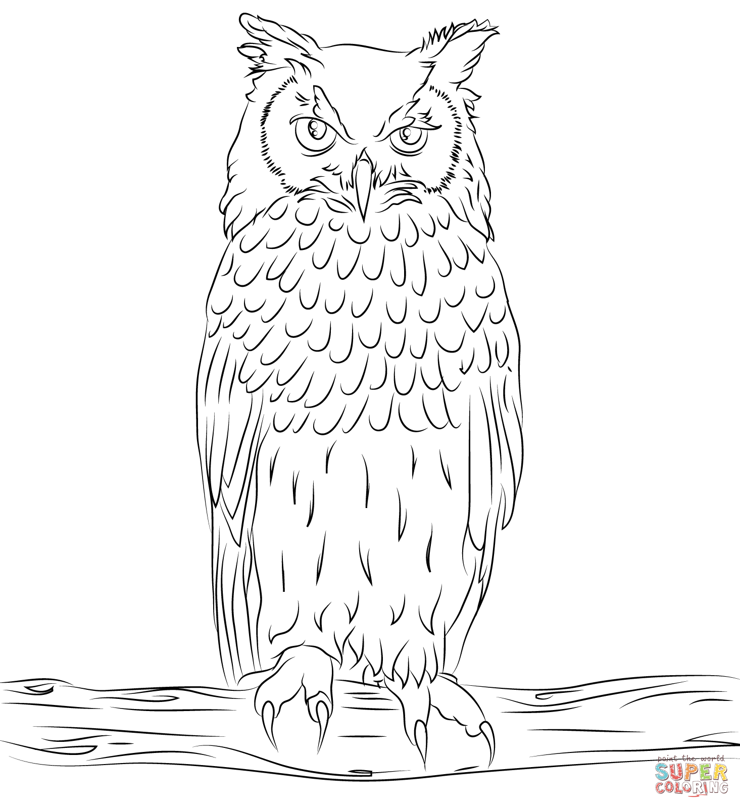 Sumptuous Design Inspiration Free Owl Coloring Pages Owls innen Malvorlage Uhu