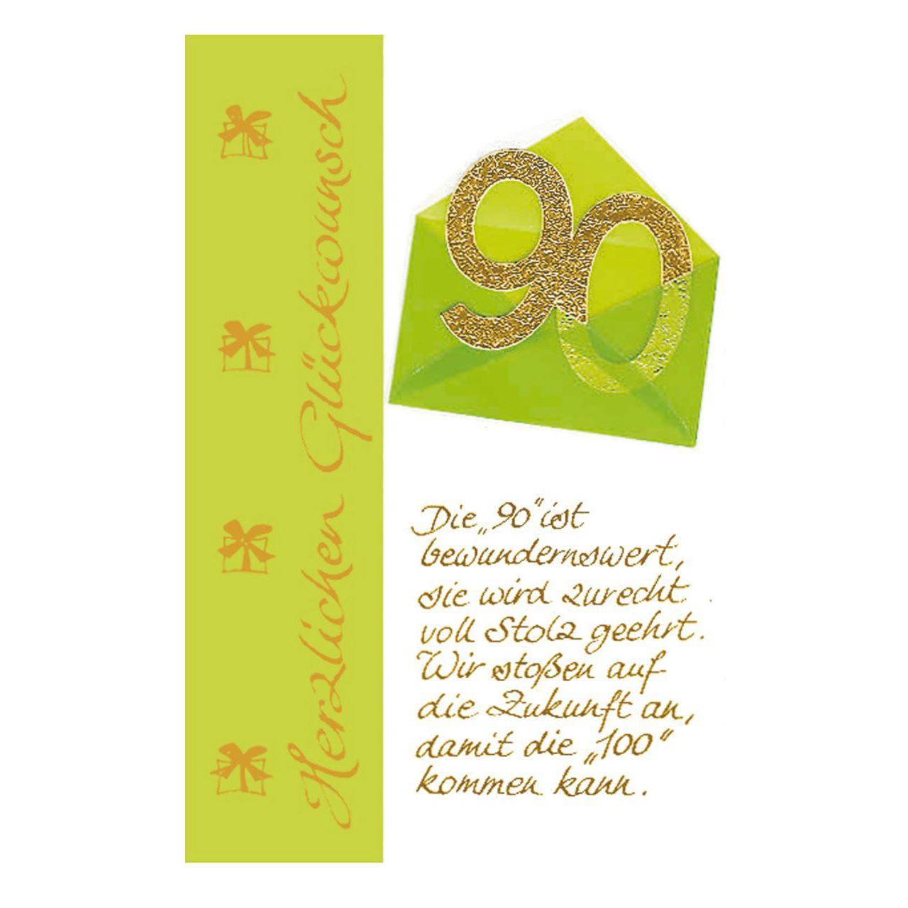 """Susy Card Geburtstagskarte - 90. Geburtstag """"briefumschlag"""" bestimmt für Geburtstagskarte Geburtstag"""