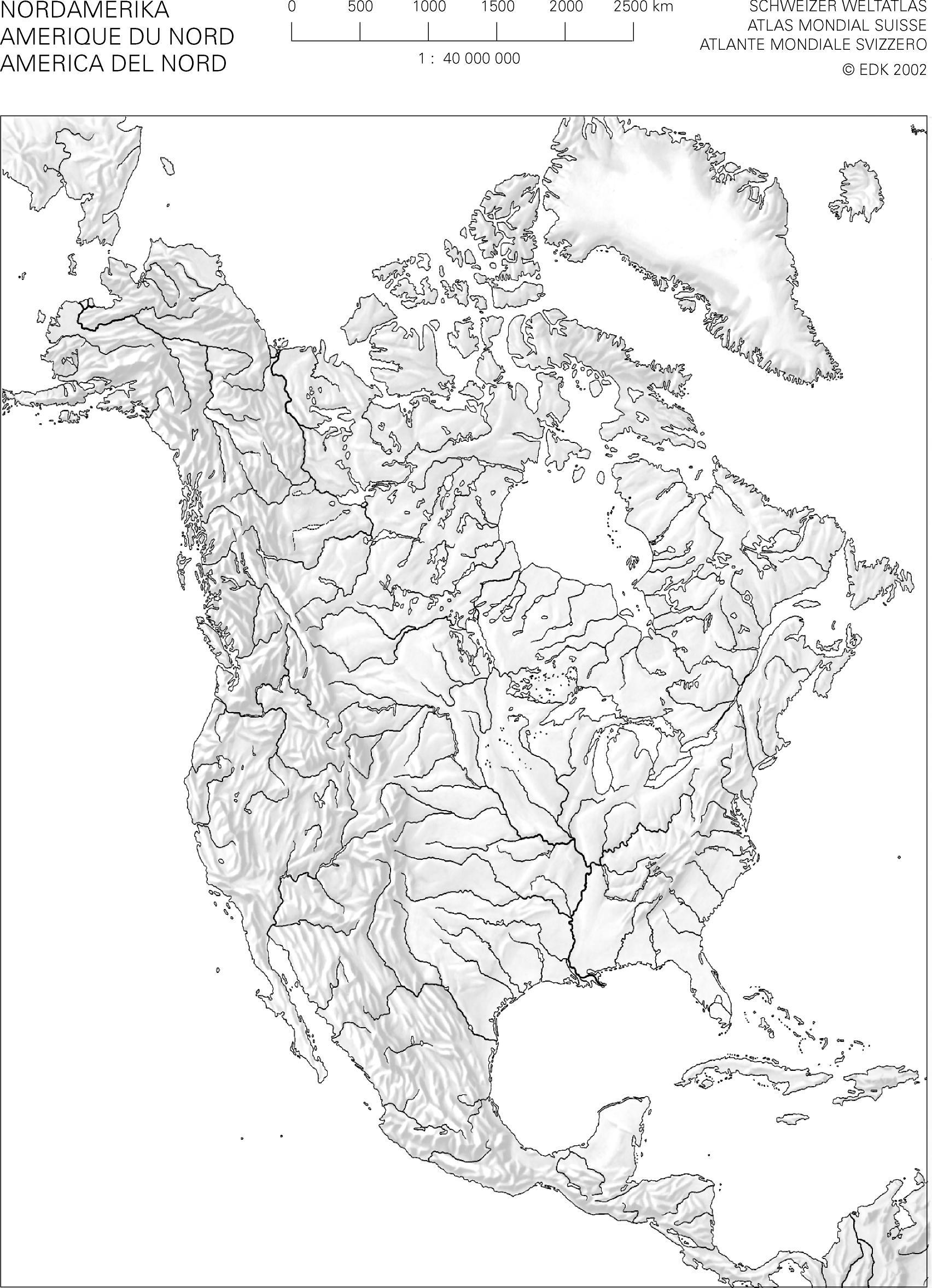 Swisseduc - Geographie - Atlas-Kopiervorlagen verwandt mit Stumme Karte Südamerika