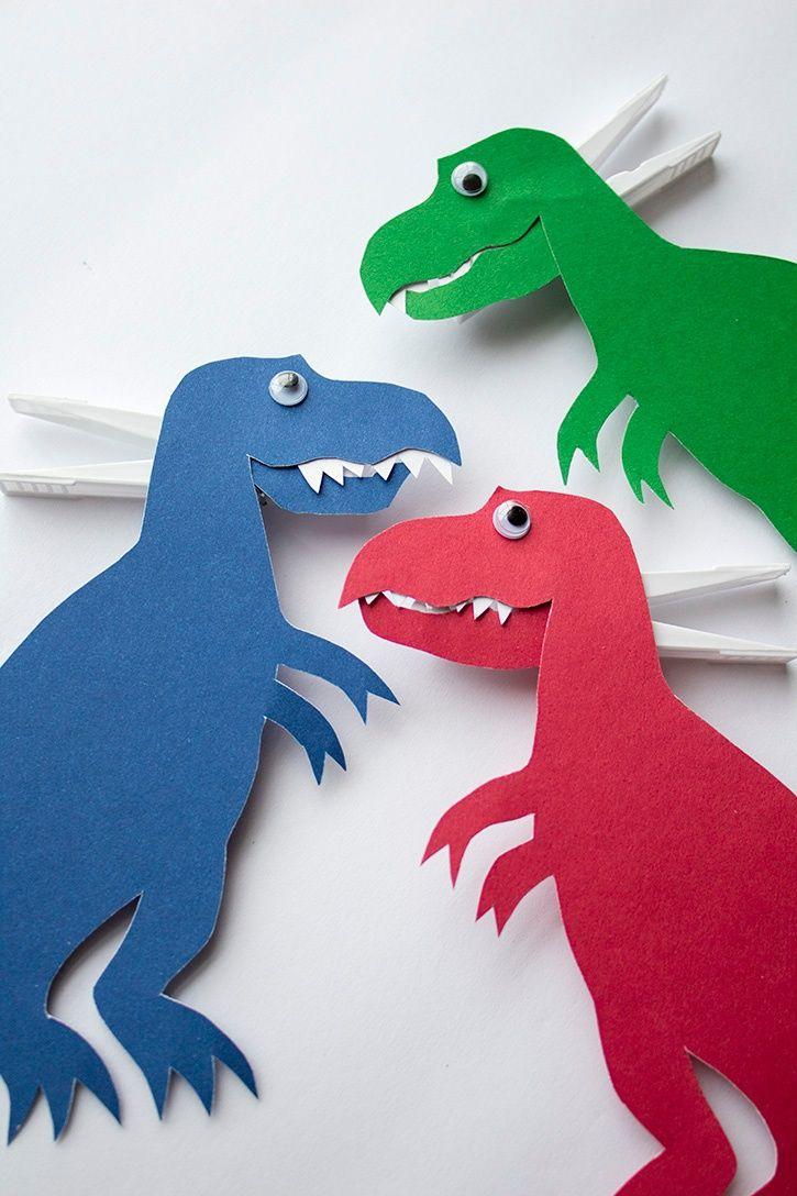T-Rex Kid's Craft | Dinosaurier Basteln, Kreativ, Basteln ganzes Bastelvorlage Dinosaurier