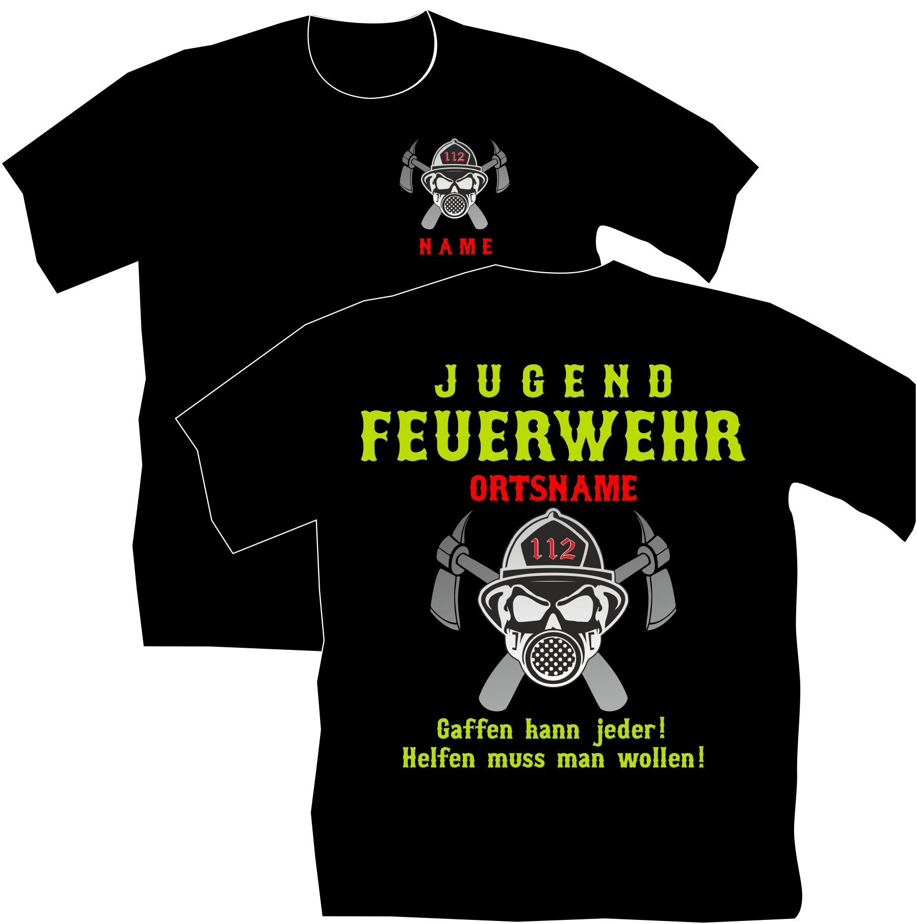 T-Shirt Feuerwehr Motiv 51 | Flexi-Design - Online-Shop in Feuerwehr Motive