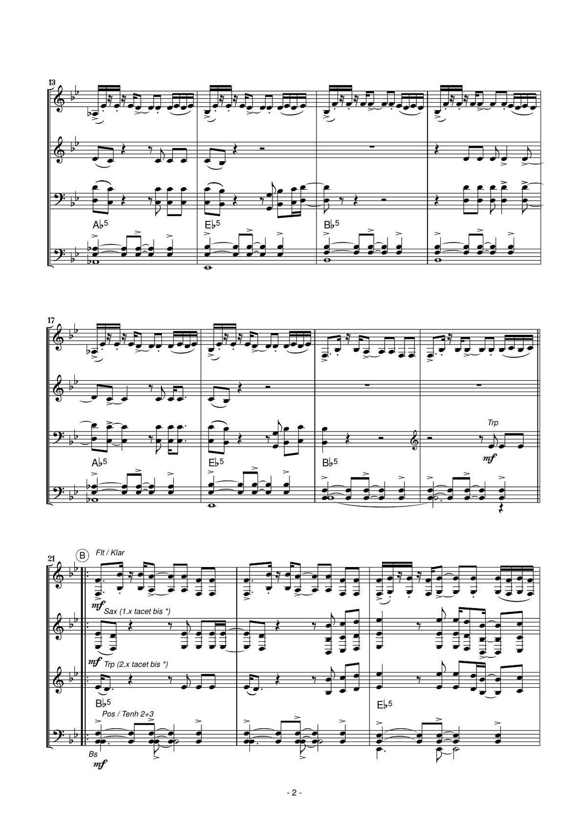 Tage Wie Diese - Die Toten Hosen (Blasorchester) bestimmt für Tage Wie Diese Noten Kostenlos