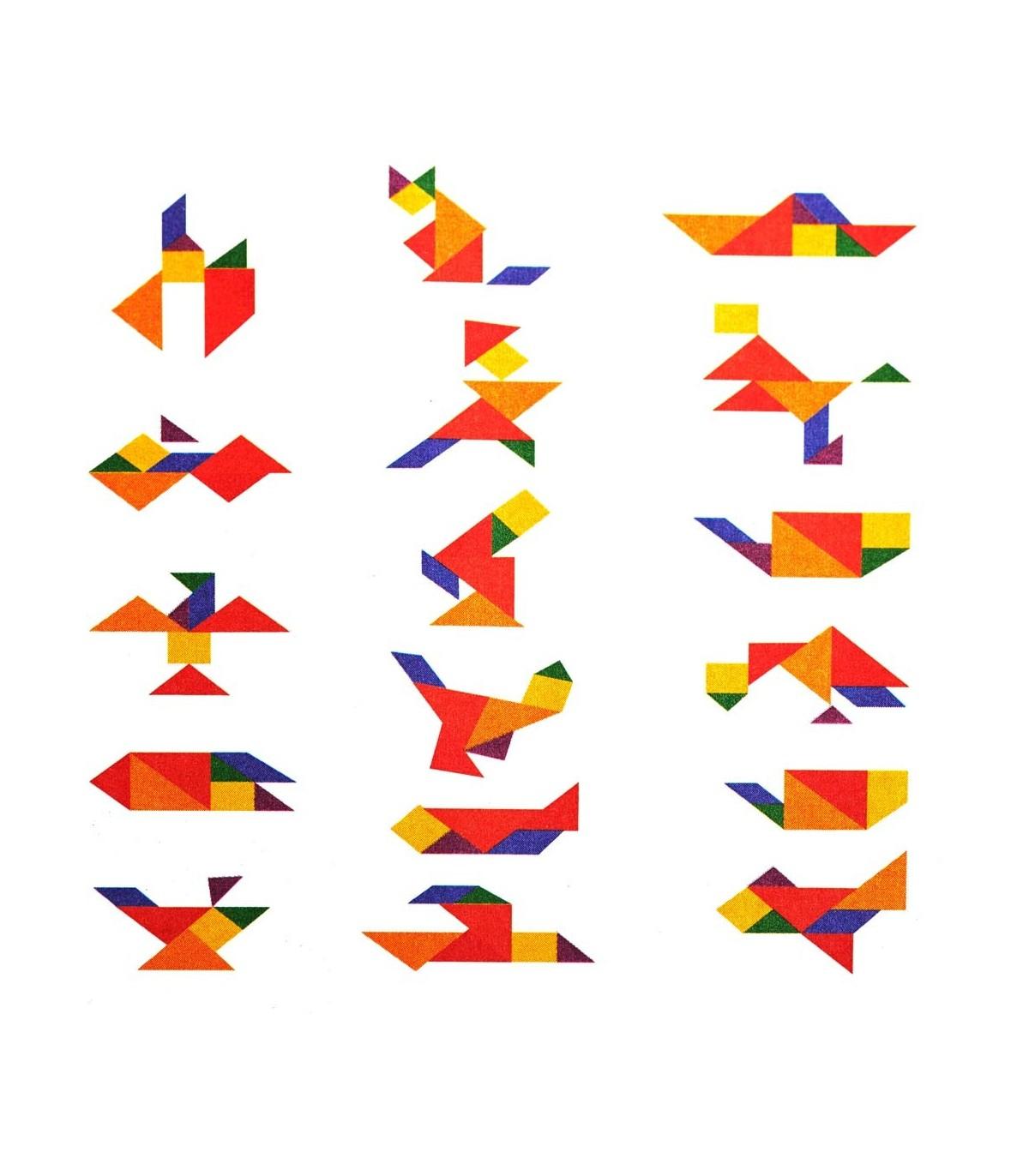 Tangram Quadrat Erstellen Osten - Figuren - Puzzle - Wit in Tangram Figuren