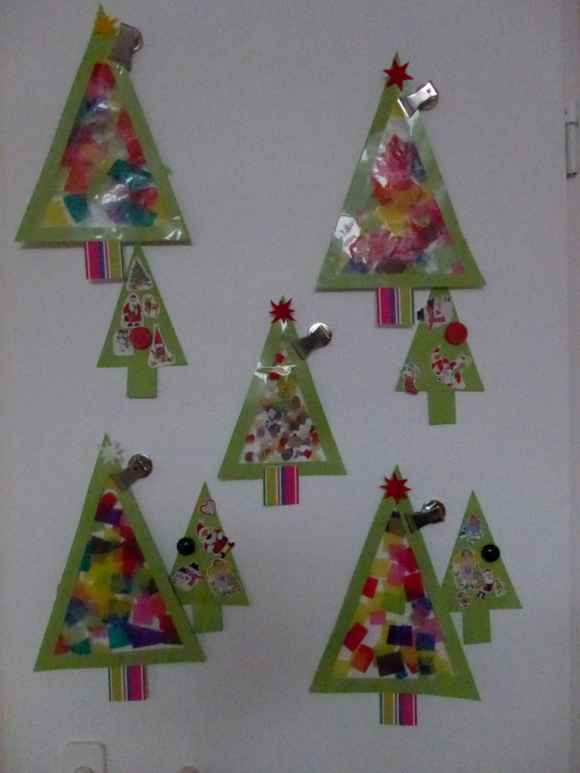 Tannenbaum, Fensterbild … (Mit Bildern) | Fensterbilder innen Weihnachtsdeko Basteln Kinder
