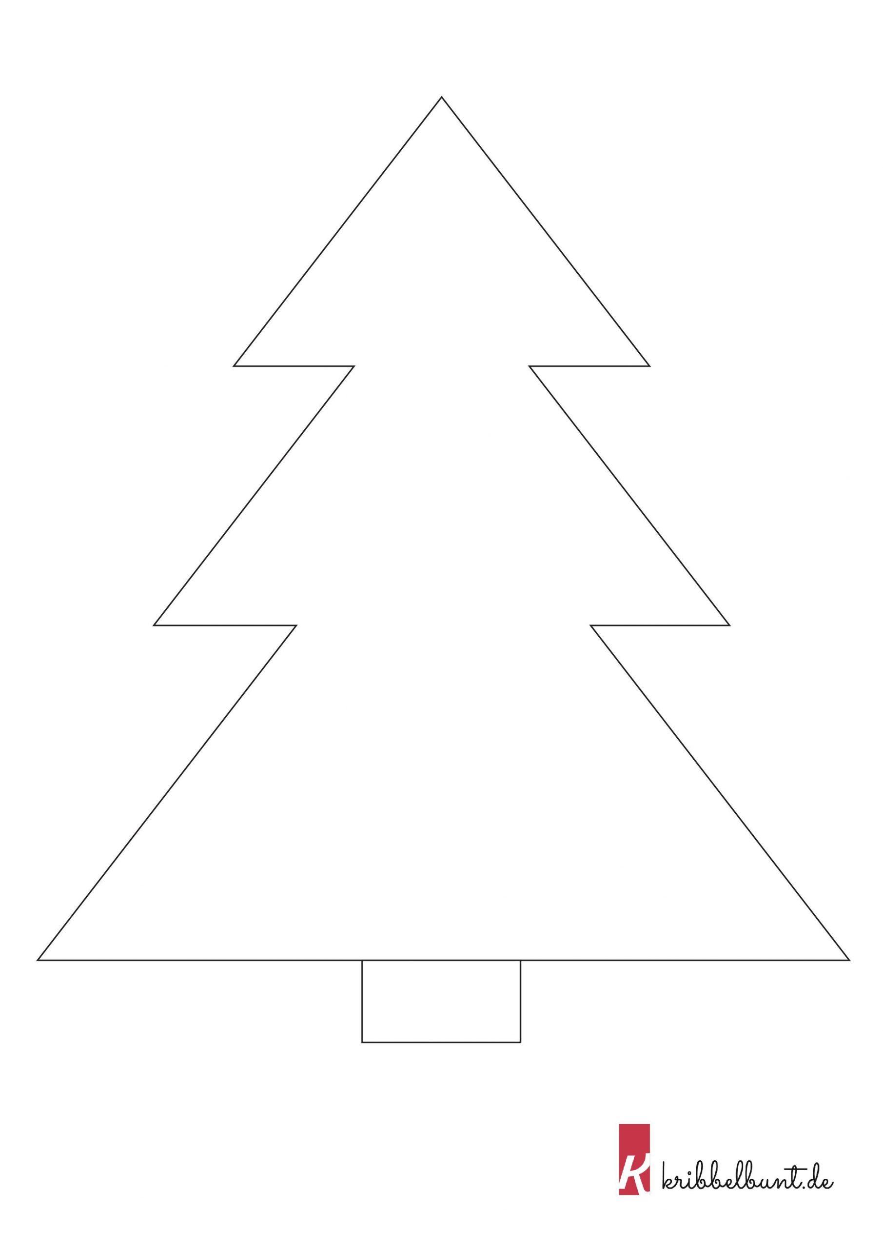 Tannenbaum Vorlage (Mit Bildern) | Tannenbaum Vorlage innen Bastelvorlagen Weihnachten Ausdrucken