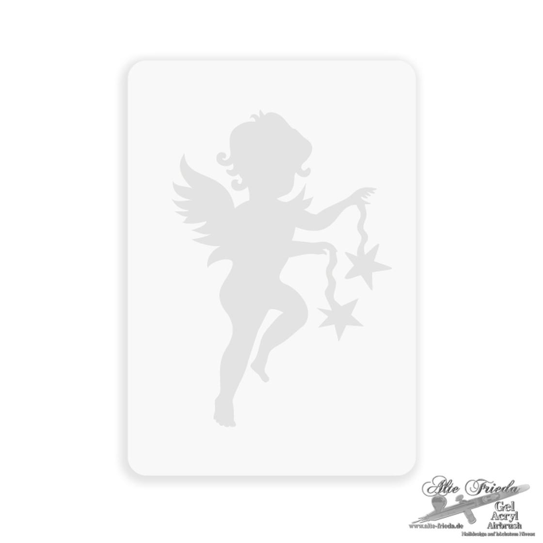 Tattoo-Engel-001 Mylar A4 innen Schablone Für Engel
