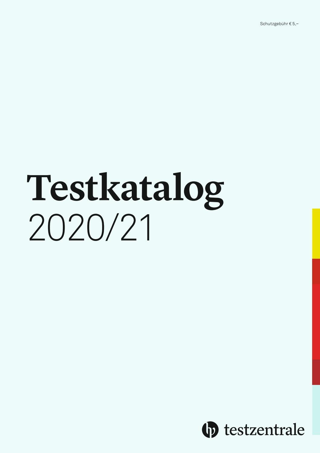 Testkatalog 2020/21 (Testzentrale Deutschland) By Hogrefe bei Konzentrationstest Zum Ausdrucken