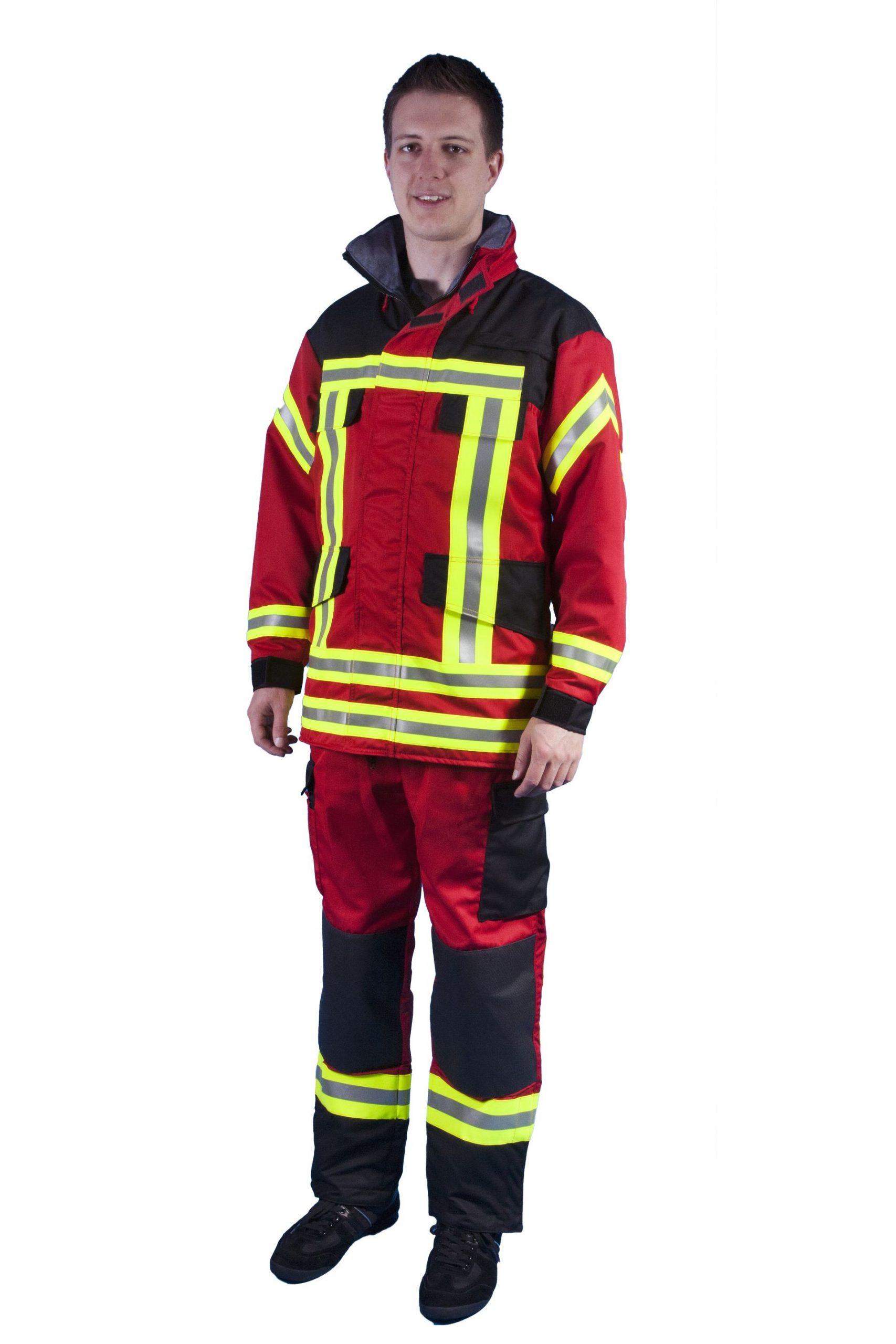 Thl-Arbeitsjacke Art. 9989/rot für Kinder Feuerwehrkleidung