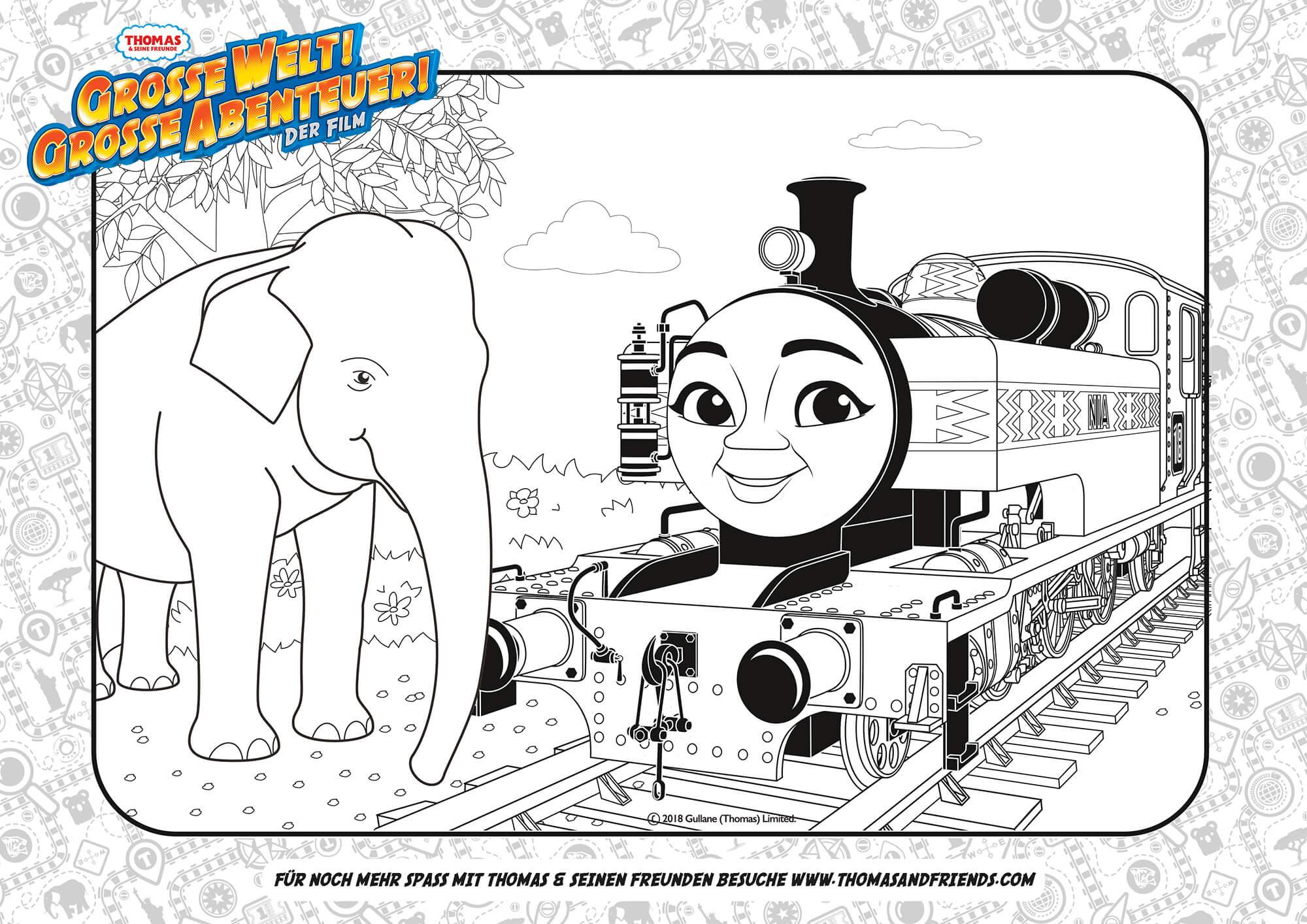 Thomas & Seine Freunde - Grosse Welt! Grosse Abenteuer ganzes Malvorlage Thomas Und Seine Freunde
