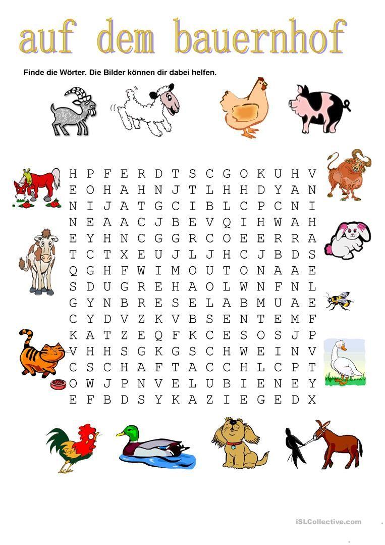 Tiere - Auf Dem Bauernhof (Mit Bildern) | Bauernhof Tiere innen Kinderrätsel Tiere