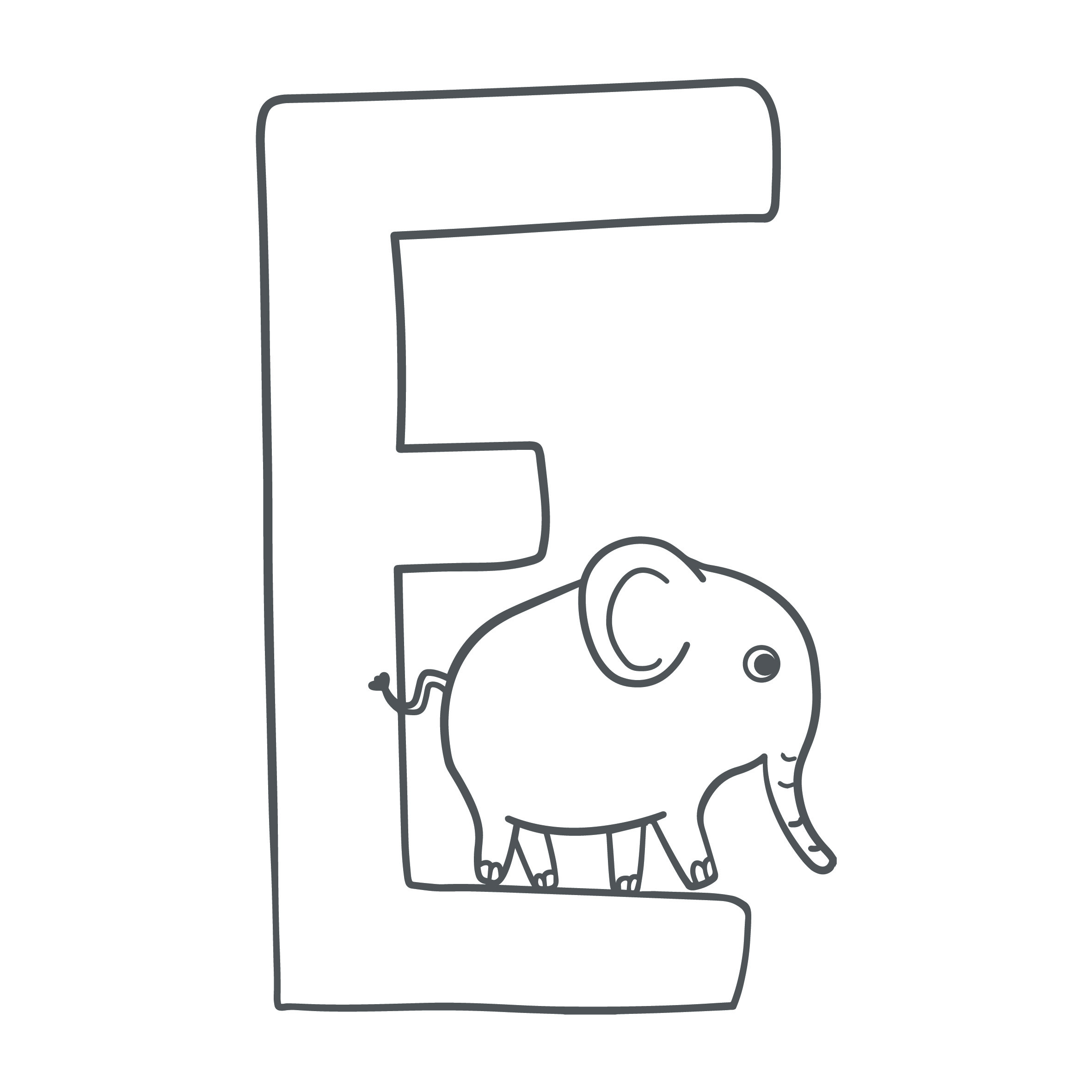 Tierische Buchstaben Zum Ausmalen – F Wie Faultier für Buchstaben Zum Ausmalen