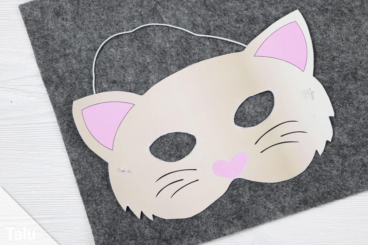 Tiermasken Basteln - Anleitung Mit Vorlagen - Talu.de über Katzenmaske Basteln