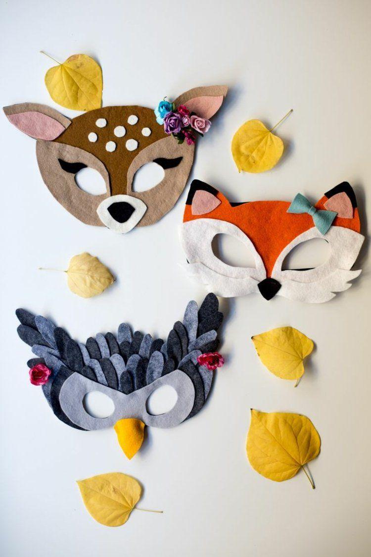 Tiermasken Basteln – Aus Papier Und Filz Faschingsmasken mit Faschingsmasken Selber Basteln
