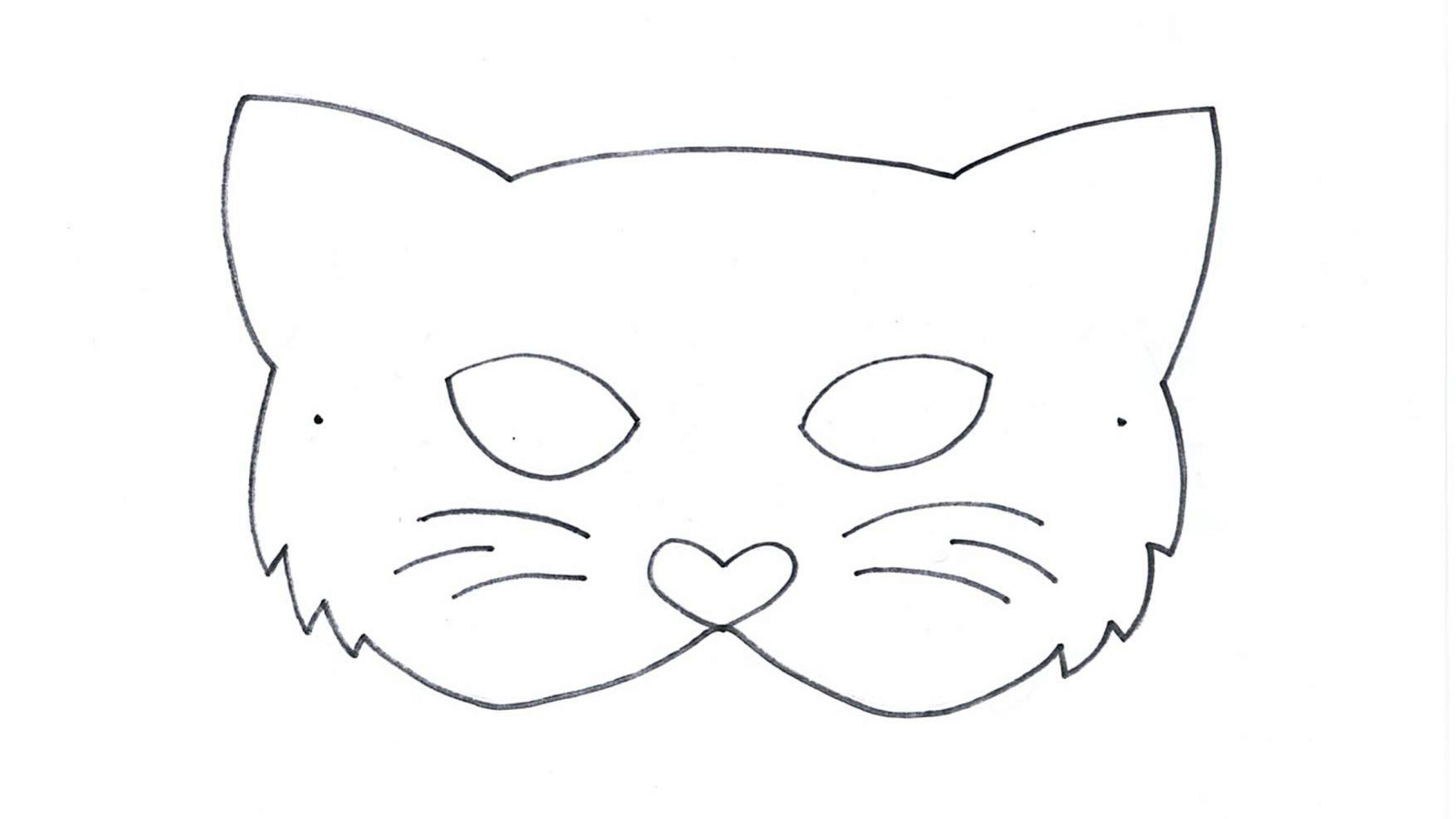 Tiermasken Basteln   Famigros für Katzenmaske Basteln