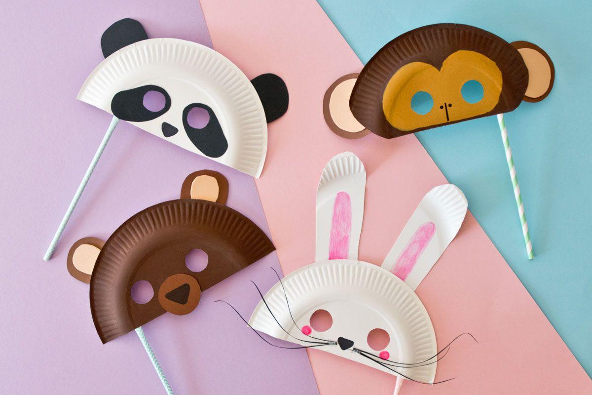 Tiermasken Basteln Für Fasching: Bär, Panda, Hase Oder Affe ganzes Kindermasken Basteln