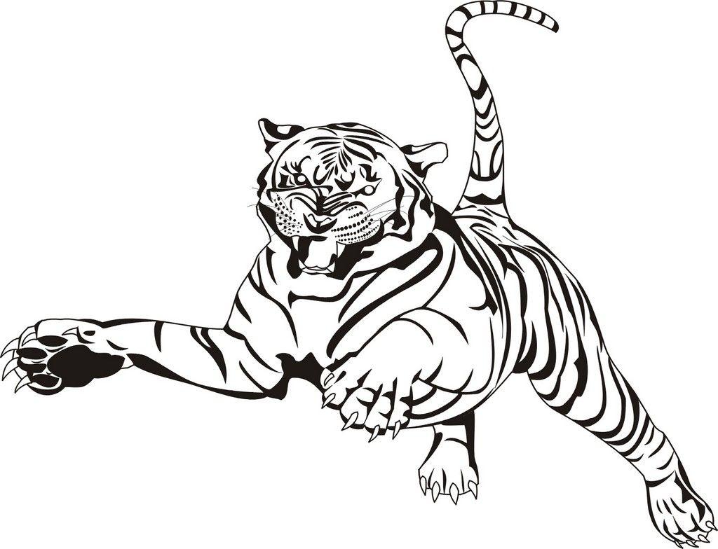 Tiger Ausmalbilder (Mit Bildern)   Malvorlagen Tiere mit Tiger Malvorlage