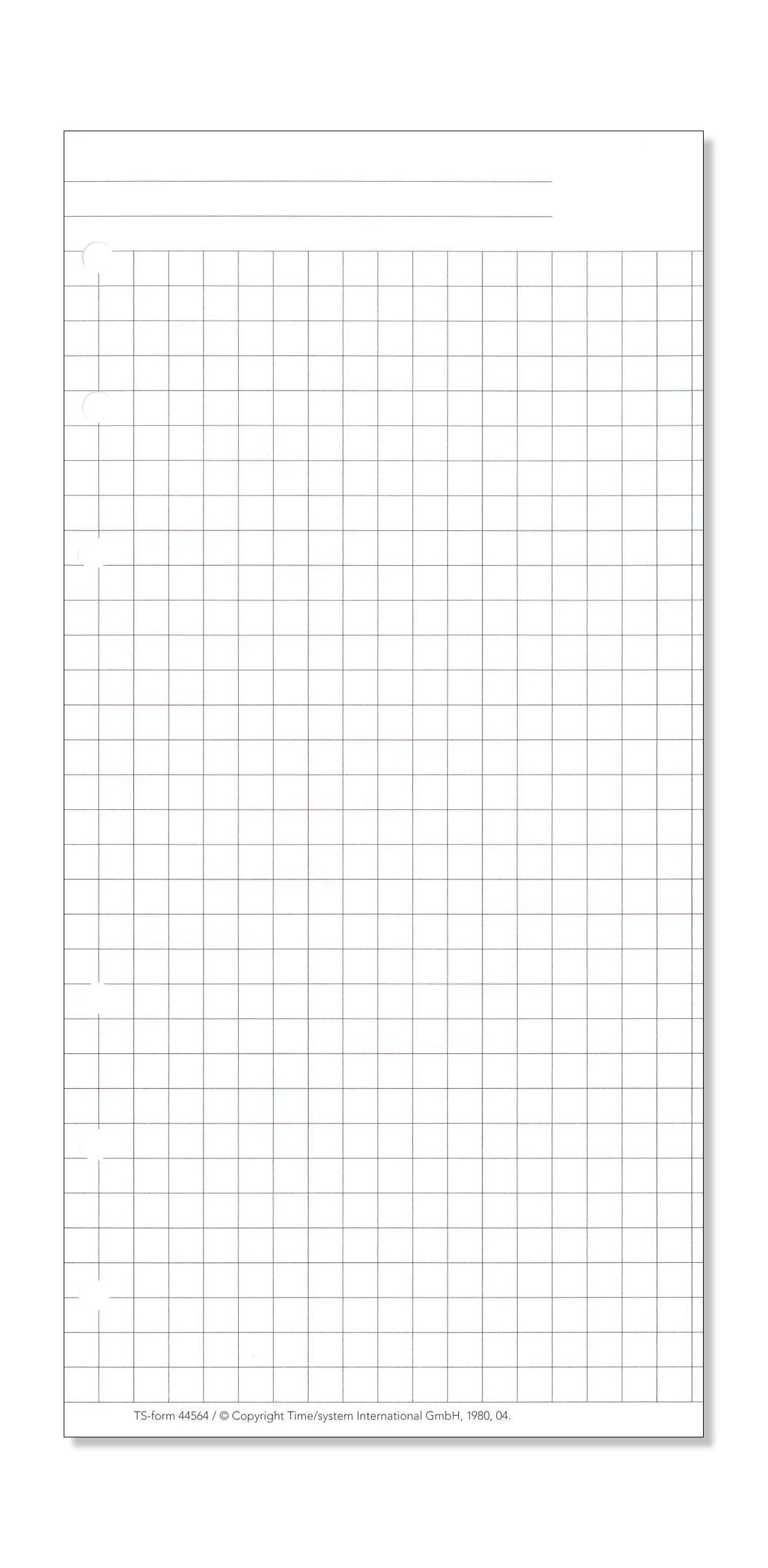 Time/system Compact Formblatt Kariertes Papier ganzes Kariertes Papier Pdf