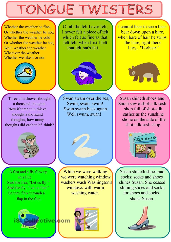 Tongue Twisters | Zungenbrecher Für Kinder, Englisch Lernen bestimmt für Zungenbrecher Für Grundschulkinder