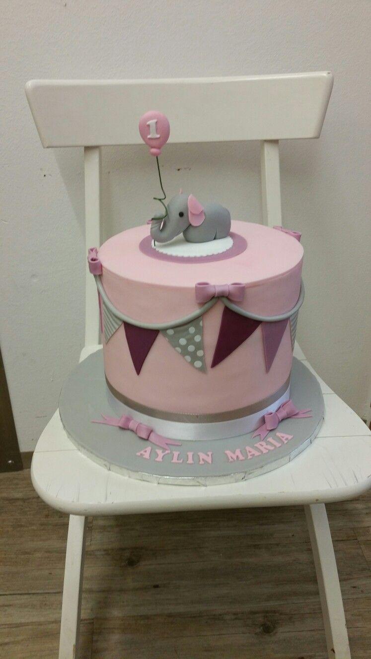 Torte 1.geburtstag Mädchen Rosa (Mit Bildern) | 1 in Geburtstagskuchen Zum 1 Geburtstag