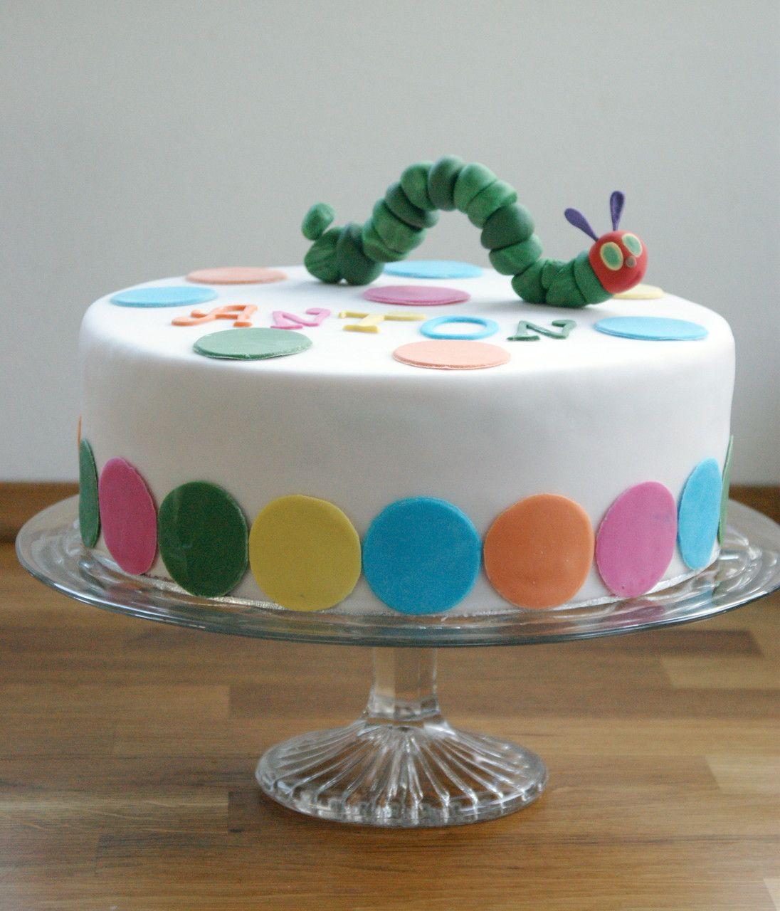 Torte - Kleine Raupe Nimmersatt | Torte Kindergeburtstag mit Geburtstagskuchen 2 Geburtstag