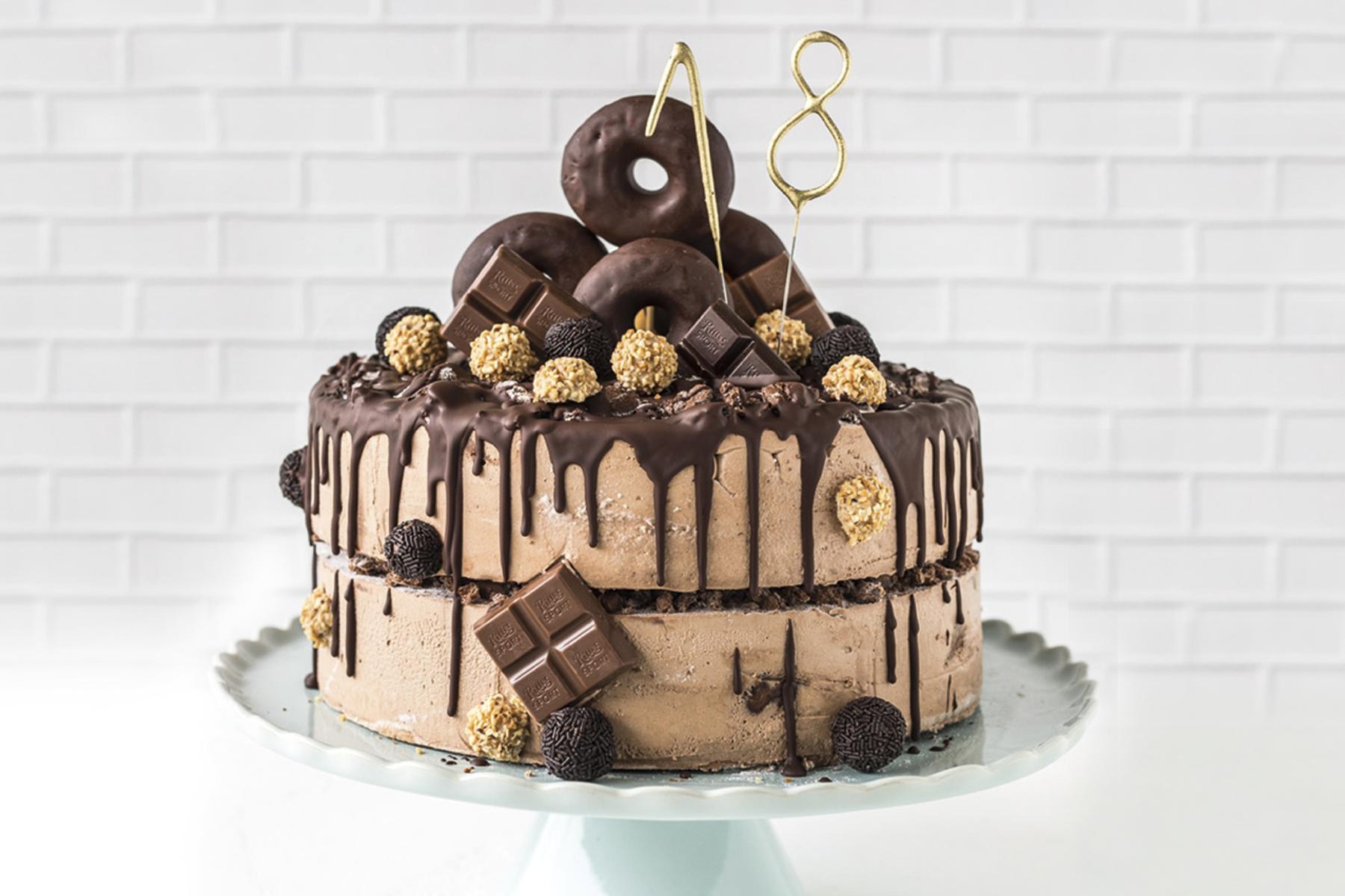 Torte Zum 18. Geburtstag Mit Donuts! bestimmt für Torte Für Geburtstag