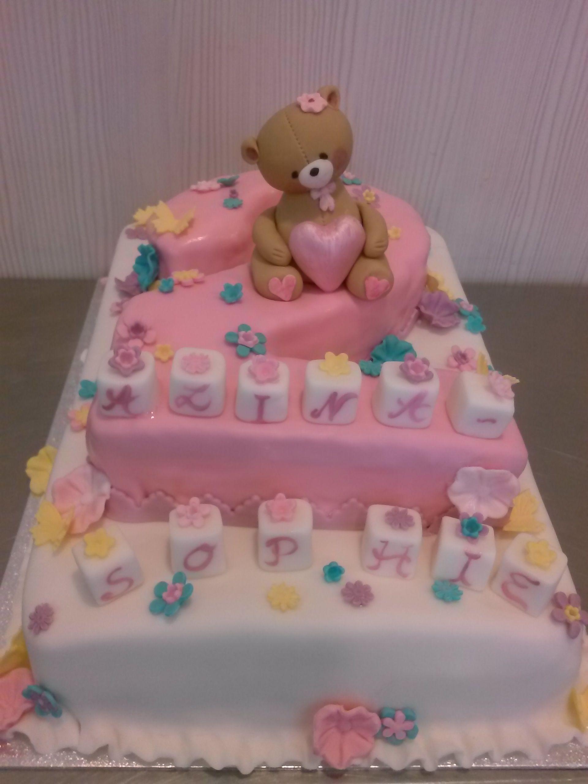 Torte Zum 2. Geburtstag, Ja, Für Ein Mädchen. (Mit Bildern bestimmt für Torte Zum 2 Geburtstag
