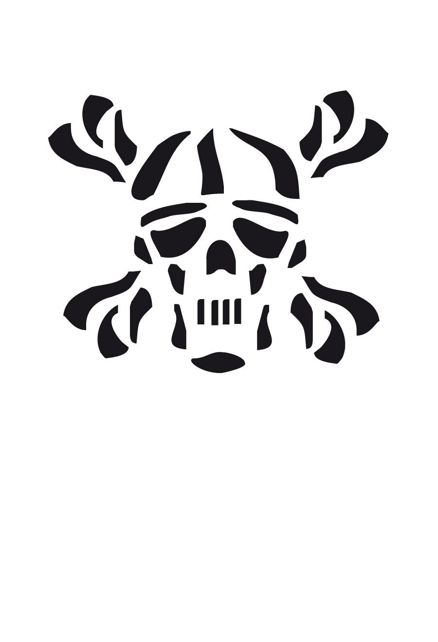 Totenkopf Schablone Kaufen bestimmt für Totenkopf Vorlage