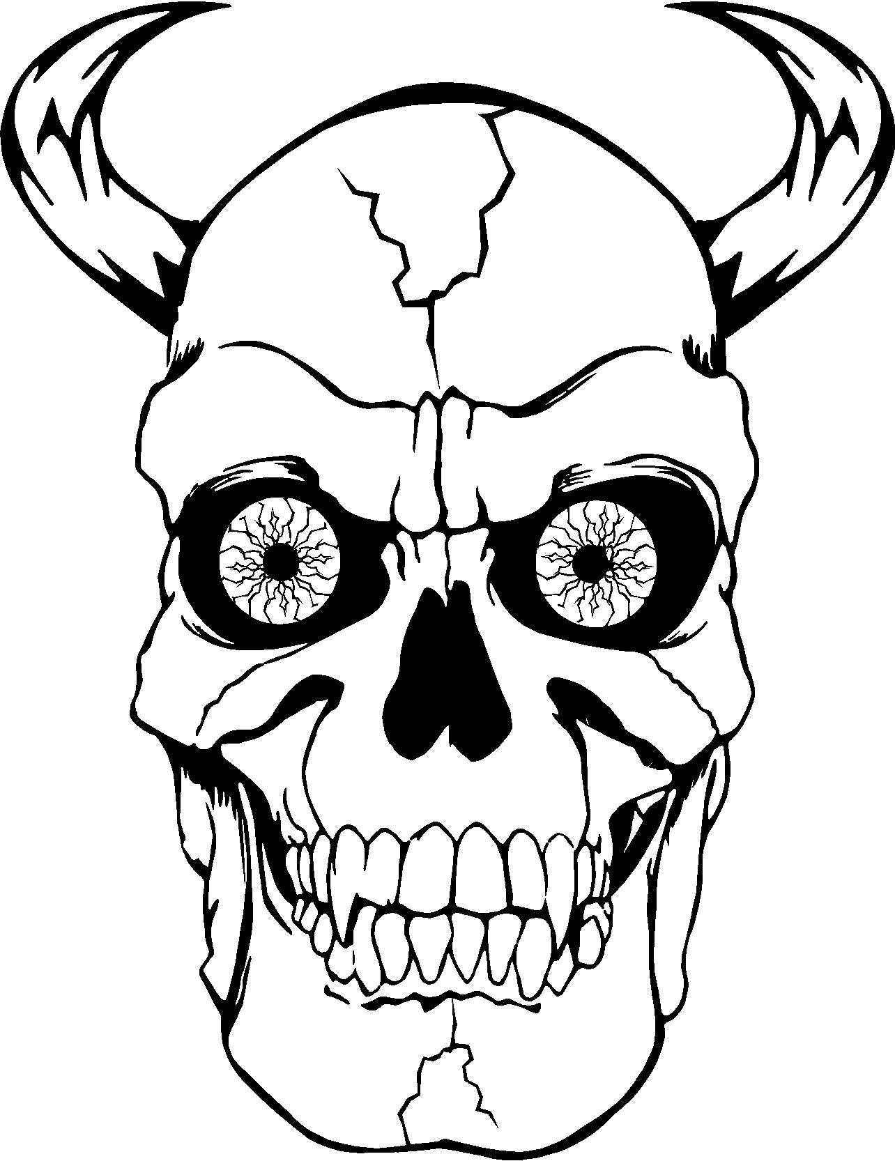 Totenkopf Zum Ausdrucken Kostenlos - 1Ausmalbilder bestimmt für Totenkopf Zum Ausmalen