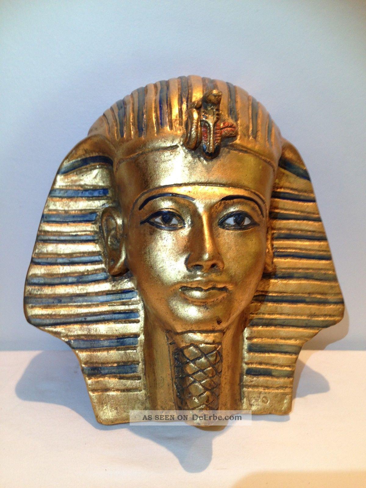 Totenmaske Ägypten Pharao Tut Ench Amun, 33Cm ganzes Pharao Totenmaske