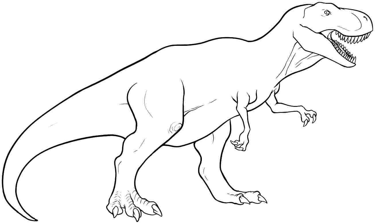 Trex Ausmalbild (Mit Bildern) | Malvorlage Dinosaurier verwandt mit Ausmalbilder Dinosaurier